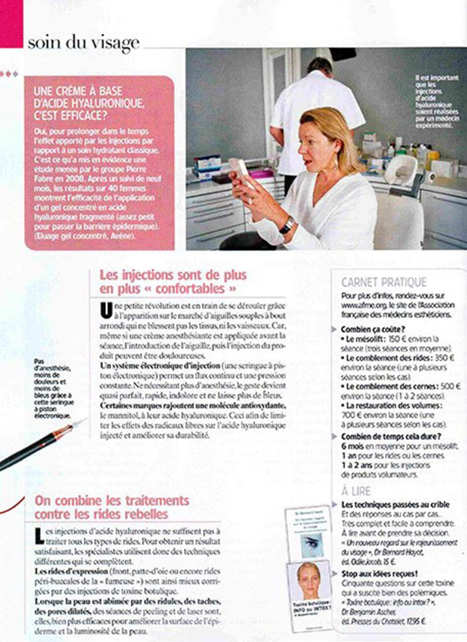 Prix injection acide hyaluronique à Paris et injection Botox | Dr Hayot